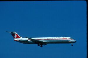 HB-ISV  SWISSAIR  DC-9-51  ORIGINAL COLORS   ORIGINAL KODAK SLIDE