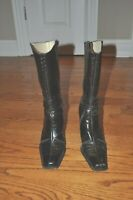 Women's ~ANTONIO MELANI~Dark Brown Leather Boots Heels Size 7 M Gorgeous!!