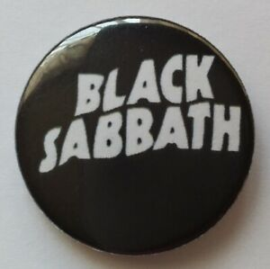 BLACK SABBATH BUTTON BADGE Paranoid Heavy Metal Rock Ozzy Osbourne Tony Iommi