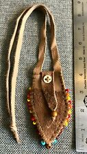 Buckskin medicine, possibles bag. Leather mountain man black powder necklace.11