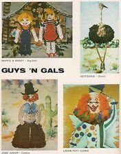 Macrame 1970s Decor Ostrich Clown and more Guys 'n Gals No. 2 PD1082
