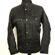 Belstaff Womens Biker Jacket Moto Military Cropped UK 12 Black Nylon with Lining
