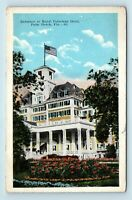 Palm Beach, FL - EARLY c1920s VIEW OF ROYAL POINCIANA HOTEL - POSTCARD - Q7