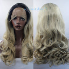 1B/Blonde Ombre Color Lace Front Wig Synthetic Hair Long Wavy Wigs