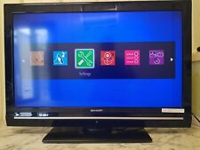 """32"""" Sharp  lcd tv with remote and power lead."""