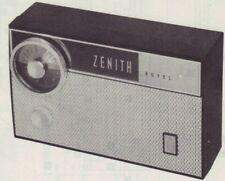 1962 ZENITH ROYAL 475L RADIO SERVICE MANUAL SCHEMATIC PHOTOFACT REPAIR DIAGRAM