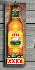 XXXX Pale Ale 3D LOOK Rustic Wooden BAR Plaque / Sign (FREE POST) Stubby Image