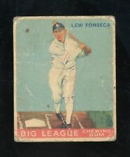 """1933 V353 World Wide Gum #43    Lew Fonseca  White Sox """"+French""""""""poor""""  LOOK!"""