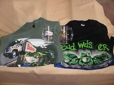 Budweiser Frogs 2 T-Shirt Set with 2 Budwieser Frog Beer Mugs 1990's