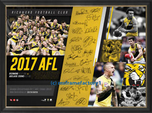 Richmond Tigers 2017 Premiers Team Signed AFL Official Print Framed - MARTIN