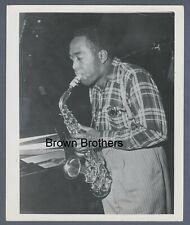 Vintage 1940s American Jazz Saxophonist Charlie Parker Practicing Photo - BB