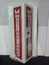 Lawson/Glo-Brite V-Shaped Photoluminescent Fire Extinguisher Sign (LS038-1)