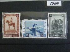 timbres belges : monument national de S.M. le roi 1954 COB n° 938 à 940 **