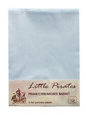 Pirates Moses Basket 100% Cotton Nursery Bedding