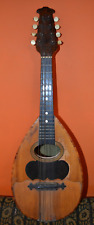 antique italian mandoline made by E.gelas stamped  rare double table circa 1907