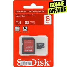 Cartes mémoire SanDisk pour téléphone mobile et assistant personnel (PDA), 8 Go