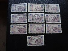 MAROC - timbre yvert et tellier n° 126 x10 obl (A29) stamp morocco (R)