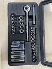 "Craftsman 28 Pc 1/4"" Drive SAE & Metric Standrad & Deep Socket Set -MADE IN USA"