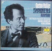 Mahler - Symphony No. 6 & Rückertlieder, KUBELIK, BÖHM, DIESKAU, DGG 2 LP STEREO