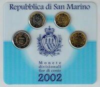 Kleiner  Euro-Kursmünzensatz 2002 aus San Marino