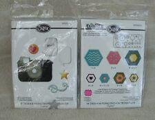 "Sizzix Thinlit ""Retro Camera & Icons"" & Triplit ""Hexagons"" ~ New"