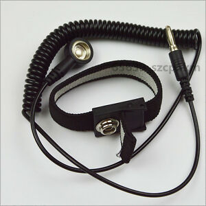 NEW Anti-static Antistatic ESD Ground Strap Wrist Band Grounding Bracelet Black