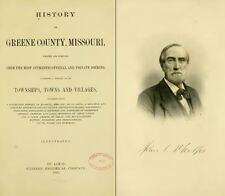 1883 GREENE County Missouri MO, History and Genealogy Ancestry Family DVD B23