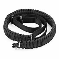 Camping Hunting Slings Adjustable Paracord Gun Rifle Sling Strap Swivels New