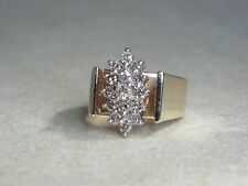 10K YELLOW GOLD .40 DIAMOND COCKTAIL CATHEDRAL PINKY RING SIZE 3.5
