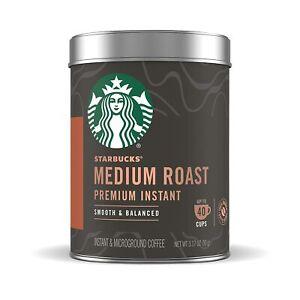 Starbucks Premium Instant Medium Roast Coffee 90g Tin Make Up To 40 cup EXP 2022