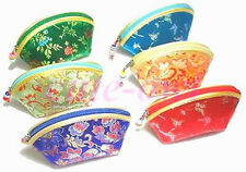 6PCS GORGEOUS CHINESE SILK EMBROIDERY COIN PURSES BAGS