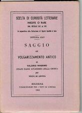 Saggio del volgarizzamento antico di Valerio Massimo