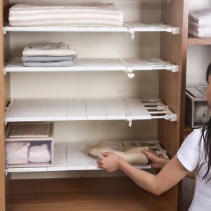 Expandable Shelf Dividers Closet Organizer Storage Bar Adjustable Clothes Rack
