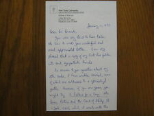 """JONATHAN  M.  BROWN (""""Velazquez:Painter  and  Courtier"""")  Signed  1987  Letter"""