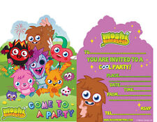 MOSHI MONSTER BIRTHDAY INVITATIONS NEW PACK OF 6