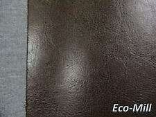 "Vinyl Material Upholstery Fabric Soft Faux Leather Vancouver Brown Fabric 54"" W"
