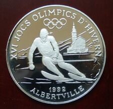 "Andorra: 10 Diners ""Olympiade Albertville 1992"" 1989 - PP/Ag. !!"