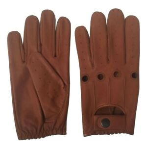 Mens Driving Gloves Classic Retro style quality Chauffeur Soft Leather Gloves