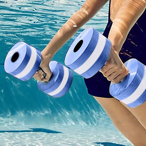 2Pc Water Weight Workout Aerobics Dumbbell Aquatic-Barbell Fitness Swimming Pool