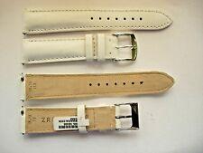1 Armband ZRC 18 mm weiß Handarbeit Gurt handmade Armband racing watch Leder