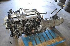 JDM TOYOTA LAND CRUISER 1PZ 3.4L DIESEL ENGINE TRANSMISSION 4X4 J70 #163