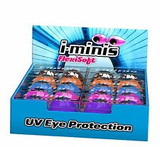 I-minis 1x Pair Sunbed TANNING Goggles UV Eye Protection Choose From 6 Colours Grey