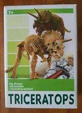 TRICERATOPS Dinosaur Skeleton Dig, Discover And Assemble A Fascinating Boxed Kit