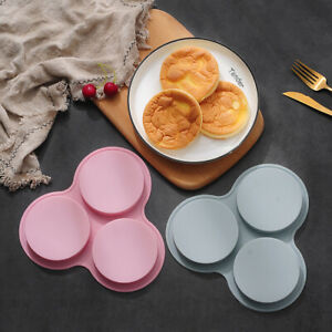 Round Shape Silicone Cake Chocolate Baking Mold Ice Cube Tray Jelly Mould DIY 3D