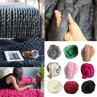 500g Thick Bulky Hand Chunky Soft Wool Knitting Hat Scarf Yarn Blanket DIY Throw