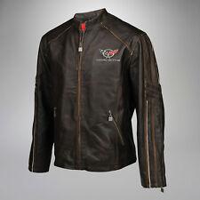 Mens Leather Medium Weight Jacket (1997-2004 C5 Corvette Logo Emblem) XL