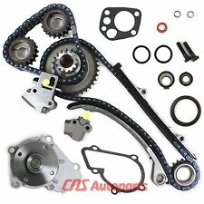 Fits 91-99 Nissan 240SX 2.4L DOHC KA24DE Engine Timing Chain Kit Water Pump