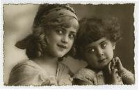 c 1930 Young Children ITALIAN KITSCH KIDLETTES Kids Child photo postcard