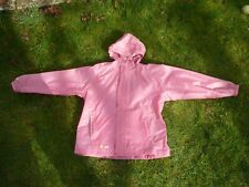 Girls Pink Hi Gear Light Packable Showerproof Jacket Coat Cagoule  Holiday 9 10
