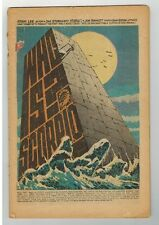 NICK FURY, AGENT OF SHIELD #1 - COVERLESS BOOK - JIM STERANKO ART - MARVEL/1968